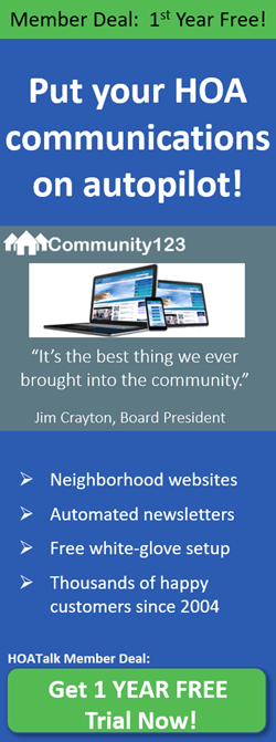 Get 1 free year community website and email newsletter hosting from Community123.com!